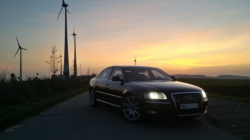 audi-auto-a8-automotive-black-evening-sunset